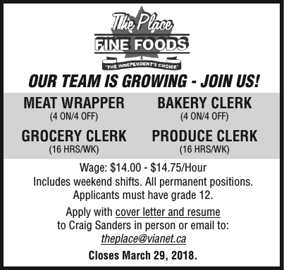 Meat Wrapper / Bakery Clerk / Grocery Clerk / Produce Clerk ...