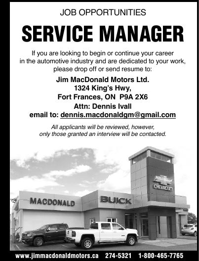 Service Manager - Jim MacDonald Motors Ltd.