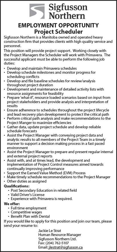 Project scheduler resume