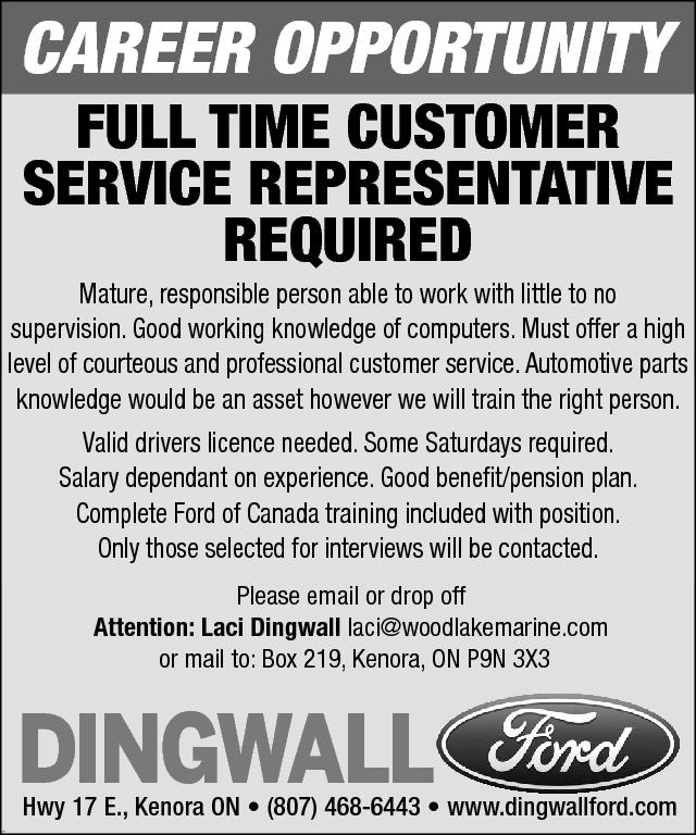 customer service representative dingwall ford anokiiwin job connect. Cars Review. Best American Auto & Cars Review