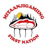 Mitaanjigamiing First Nation Logo